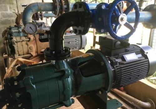 Raccordement irrigation pompe