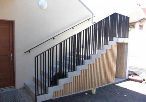 Rampe d'escalier garde corps moderne